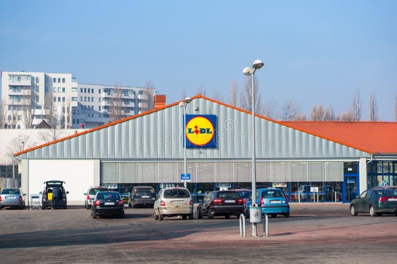 Supermercato di Lidl fotografie stock