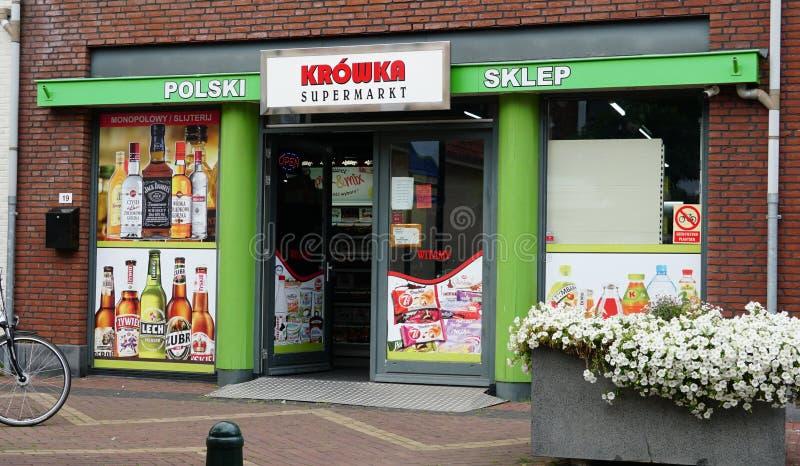 Supermercato polacco nei Paesi Bassi immagine stock libera da diritti