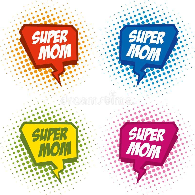 Supermom商标超级英雄 皇族释放例证