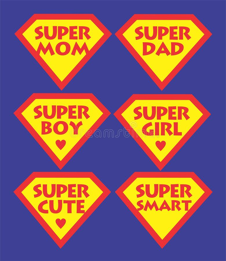 supermom 向量例证