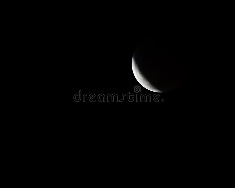 Supermond-Mondfinsternis 2019 stockbild