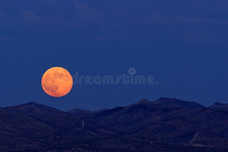 Supermoon fotografia stock