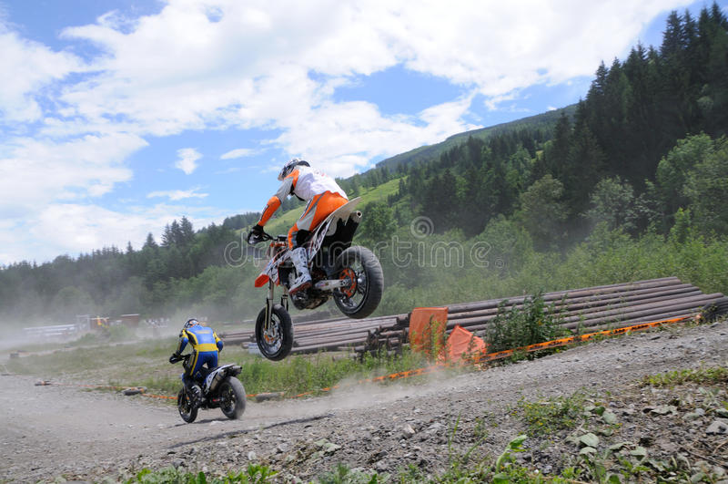 Supermoto Rennen stockfotografie