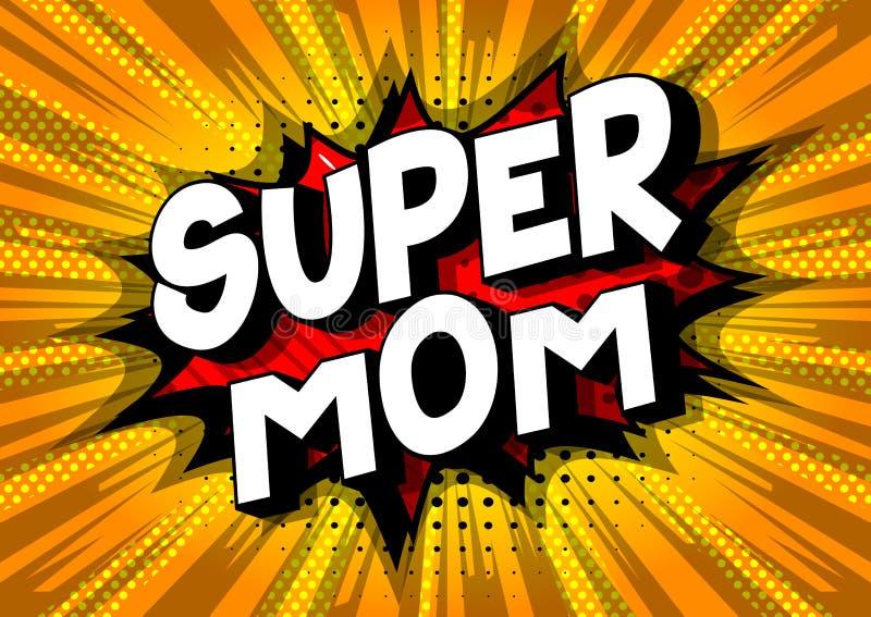 Supermutter - Comic-Buch-Artwörter stock abbildung