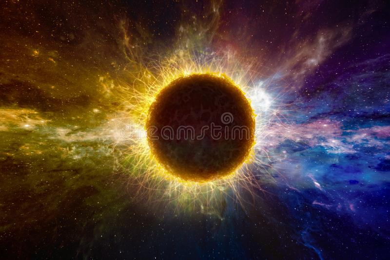 Supernatural extraterrestrial life form in deep outer space royalty free stock photos