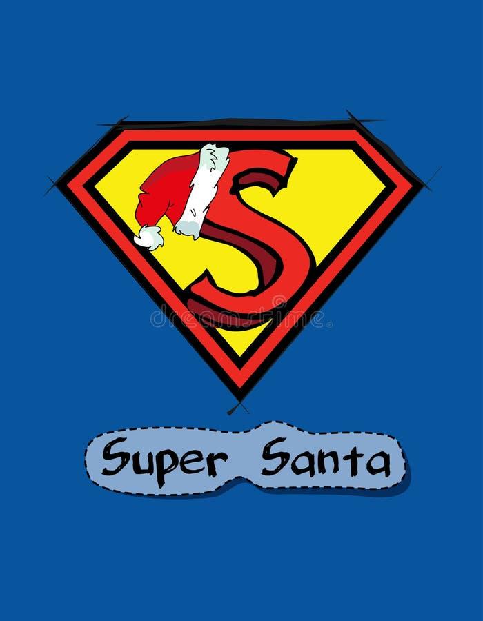 Supernatural Santa design royalty free illustration
