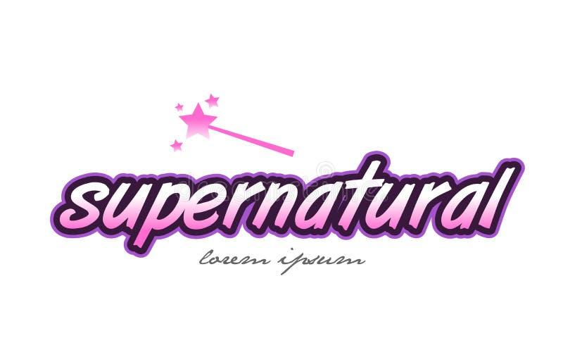 supernatural word text logo icon design concept idea royalty free illustration