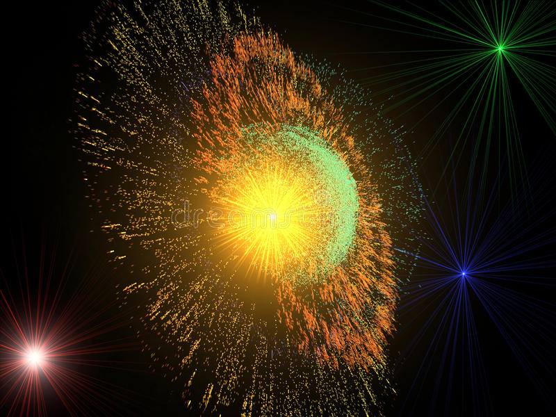 Supernova explosion stock photography