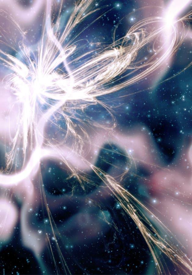 Supernova y nebulosa ilustración del vector