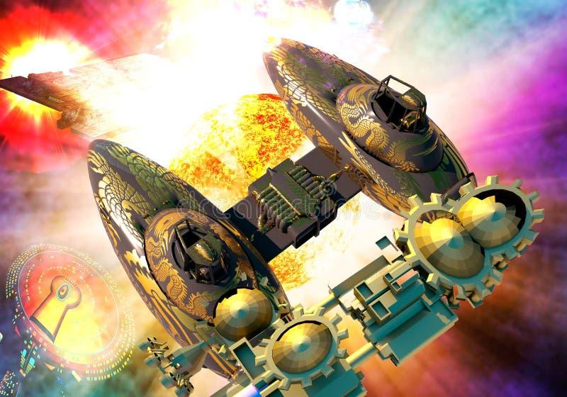 Supernovaexplosie stock illustratie