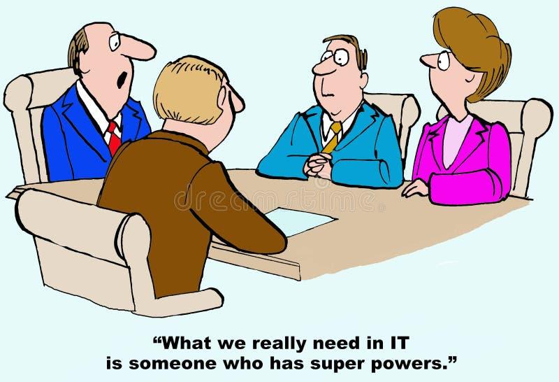 Superpotenze nell'IT illustrazione di stock