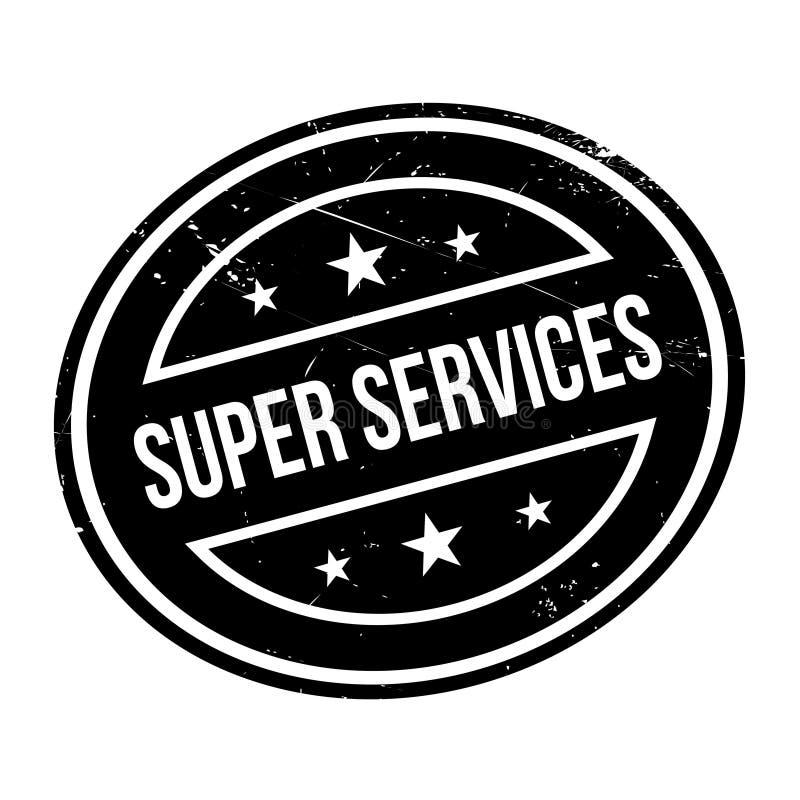 Superservice-Stempel stockfoto