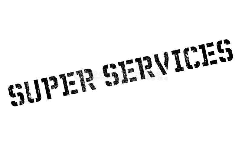 Superservice-Stempel stockfotos