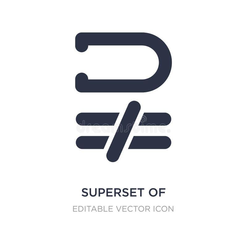 superset nad równy ikona na białym tle Prosta element ilustracja od znaka pojęcia ilustracja wektor
