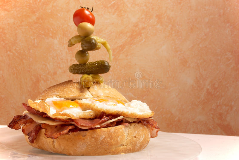 supersized smörgås royaltyfri bild