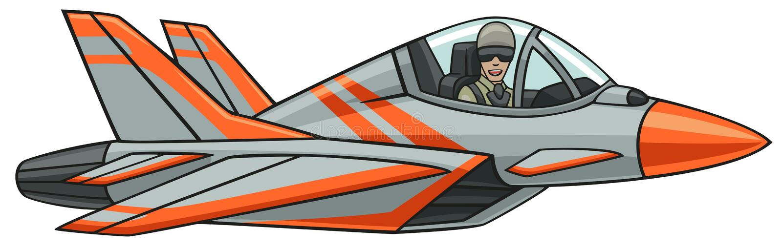 Supersonic aircraft. royalty free illustration