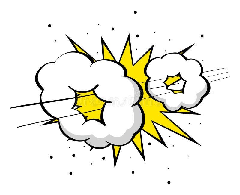 Supersonic boom. Cartoon illustration of supersonic boom, fast, speed comic effect stock illustration