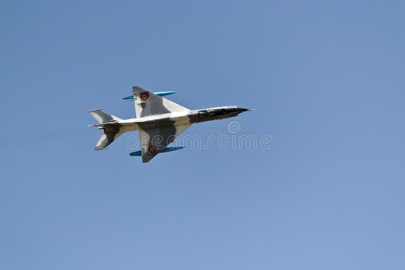 Supersonisk kämpe för stråle MiG-21 royaltyfri bild
