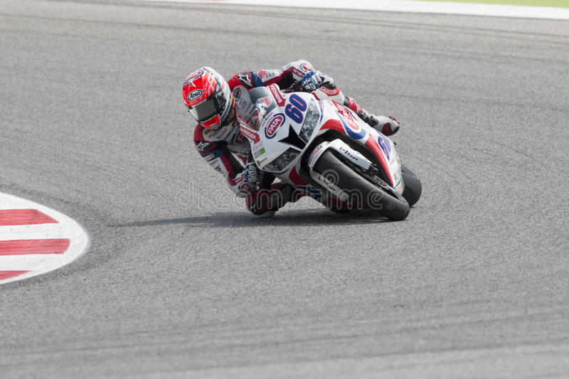 SUPERSPORT FIM World Championship - Results Free Practice 3rd Se. MISANO ADRIATICO, ITALY - JUNE 21: Honda CBR600RR of PATA Honda World Supersport Team, driven stock photos