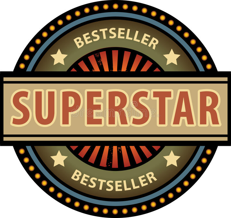 Superstar illustration stock