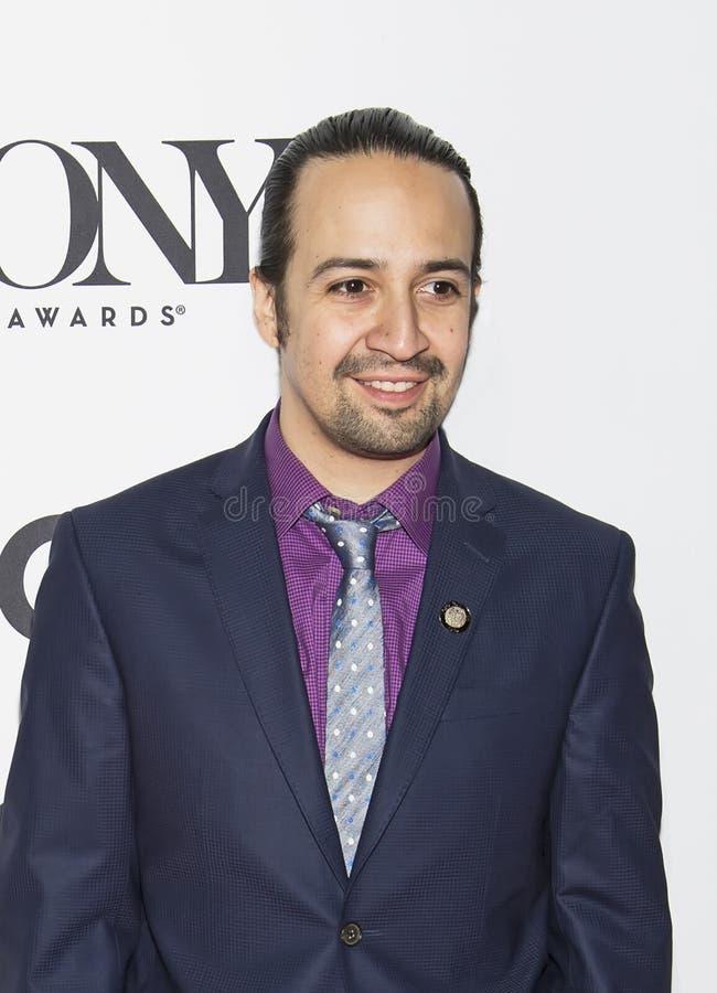 Superstar de Broadway : Lin-Manuel Miranda images libres de droits
