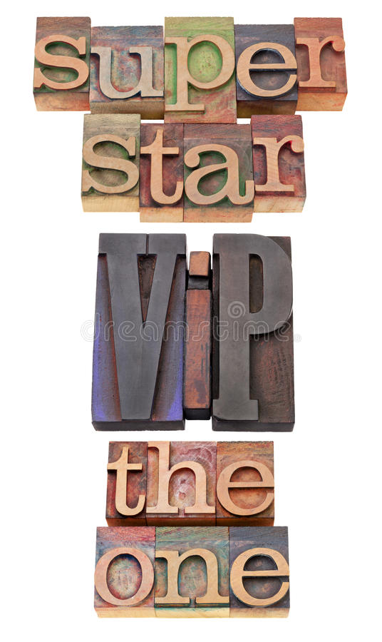 Superstar, VIP And The One Royalty Free Stock Images