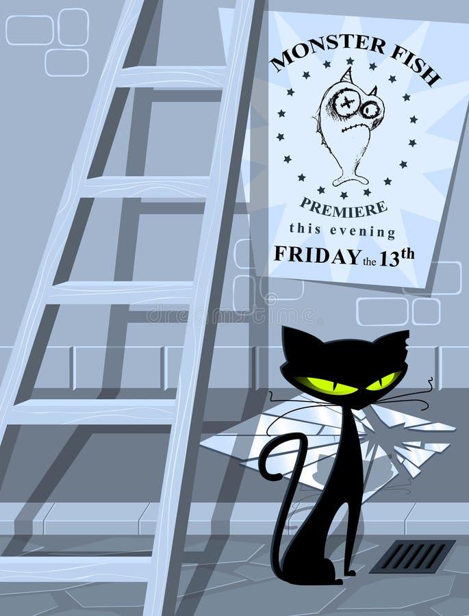 Supersticiones comunes - mán Lucas stock de ilustración