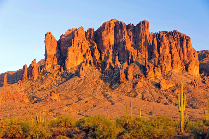 Superstition Mountain in the Arizona desert