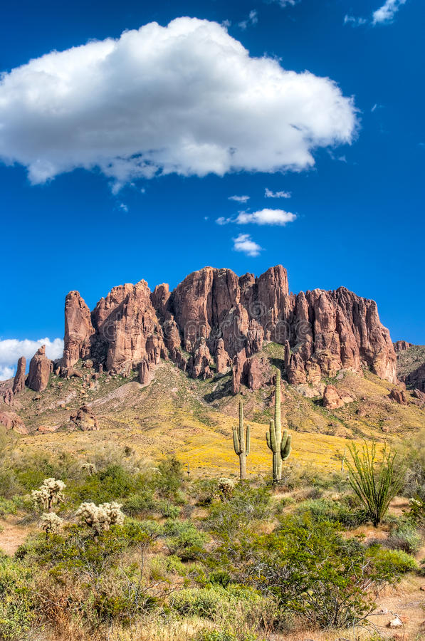 Superstition Mountains royalty free stock photos