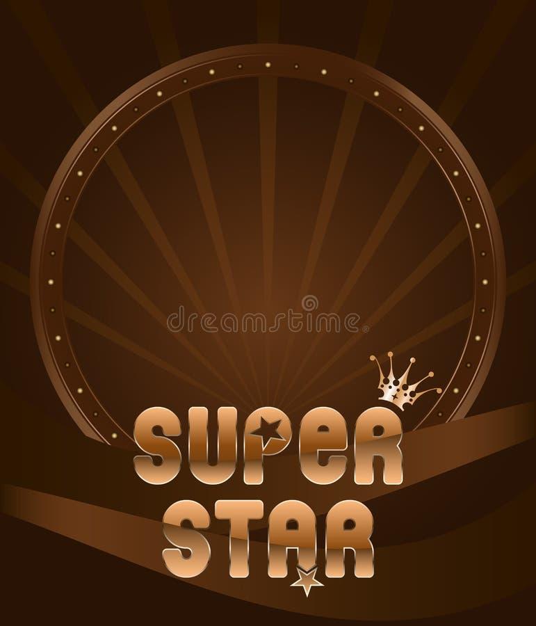 Superstjärna för deltagaresköldemblem stock illustrationer