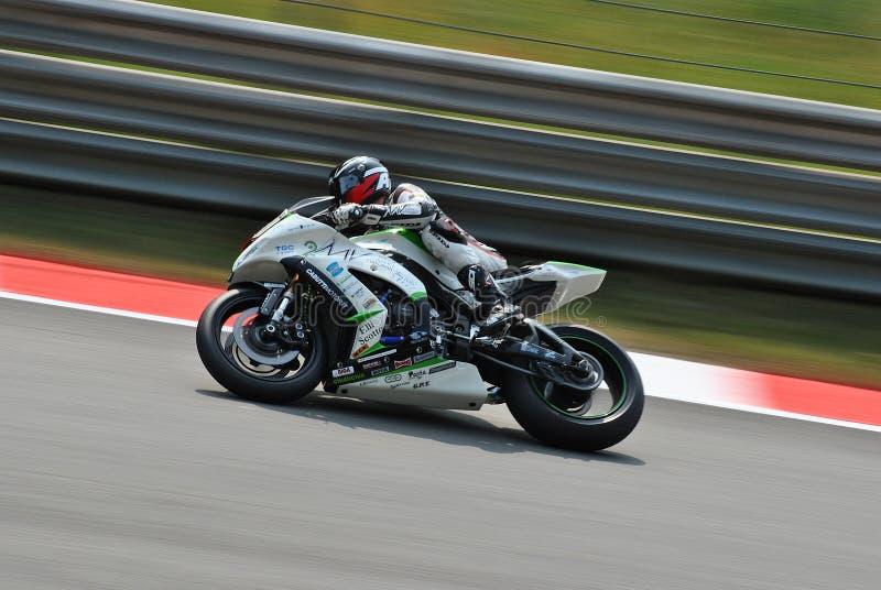 Superstock Kawasaki Monza royaltyfri bild