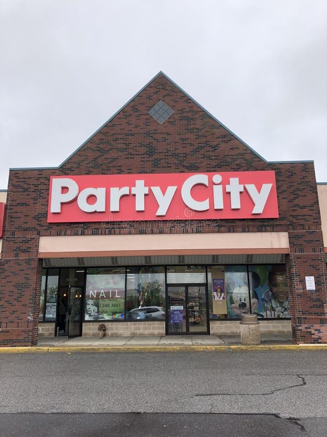 Superstore города партии стоковые изображения