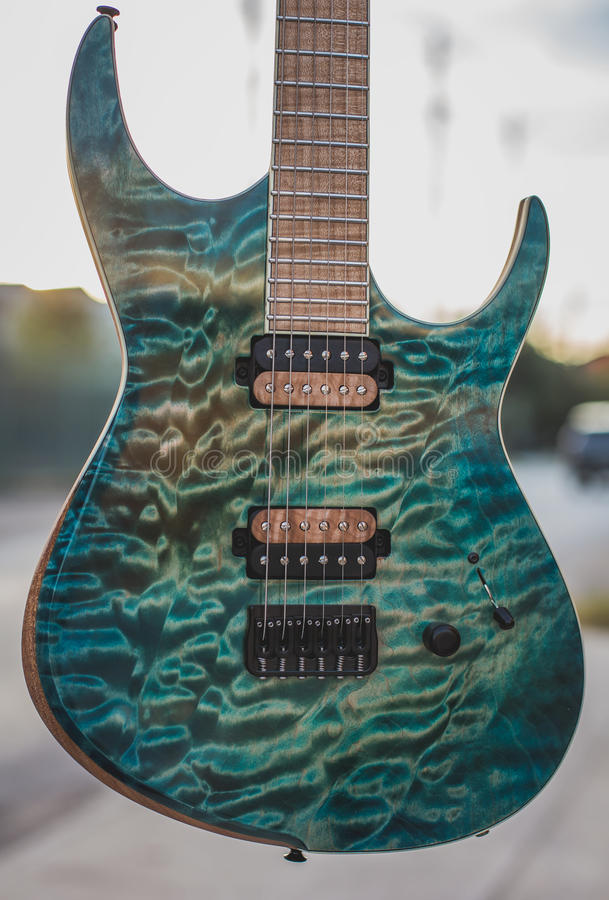 Superstrat Guitar stock images