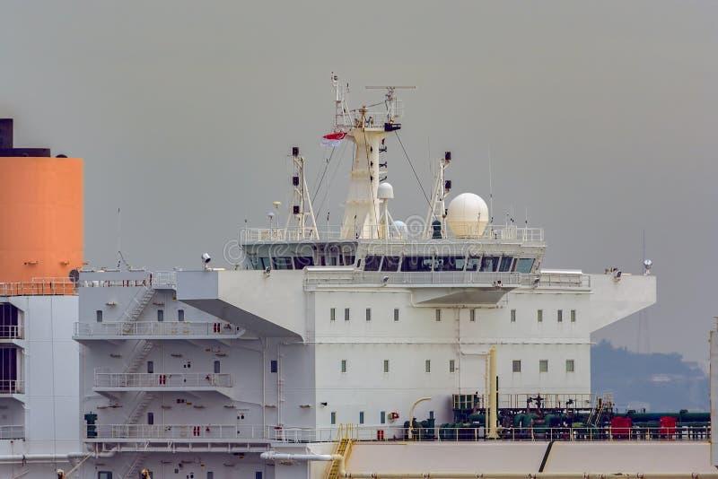 Superstructure de navire de transporteur de gaz image libre de droits
