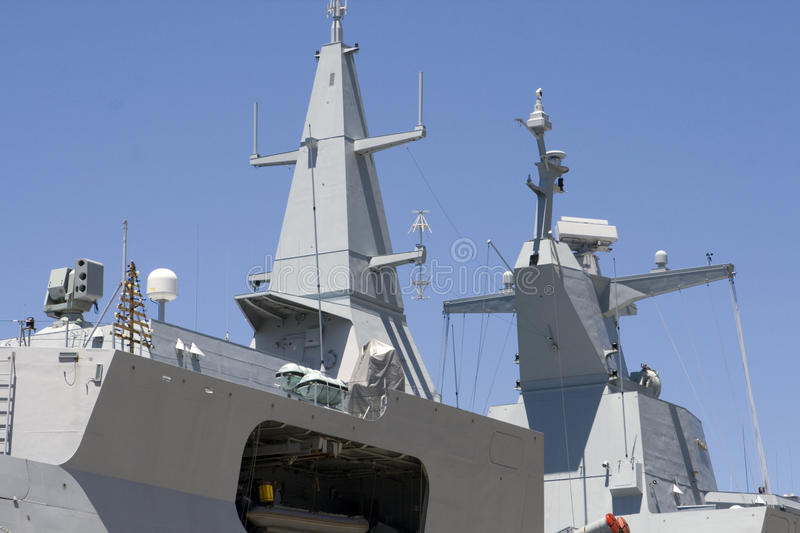 Superstructure of frigate royalty free stock photo