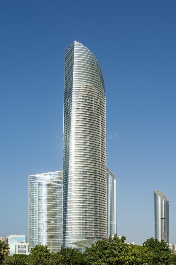 Supertall skyskrapor Abu Dhabi royaltyfri bild