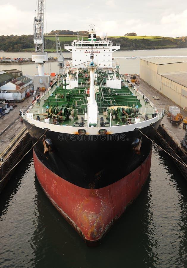 Supertanker in dock
