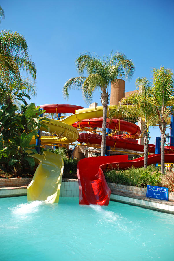 Supertube at holiday resort royalty free stock image