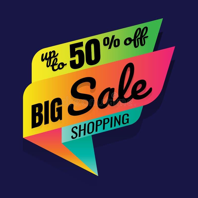 Superverkauf, dieses Wochenende Sonderangebotfahne, bis 50% weg vektor abbildung
