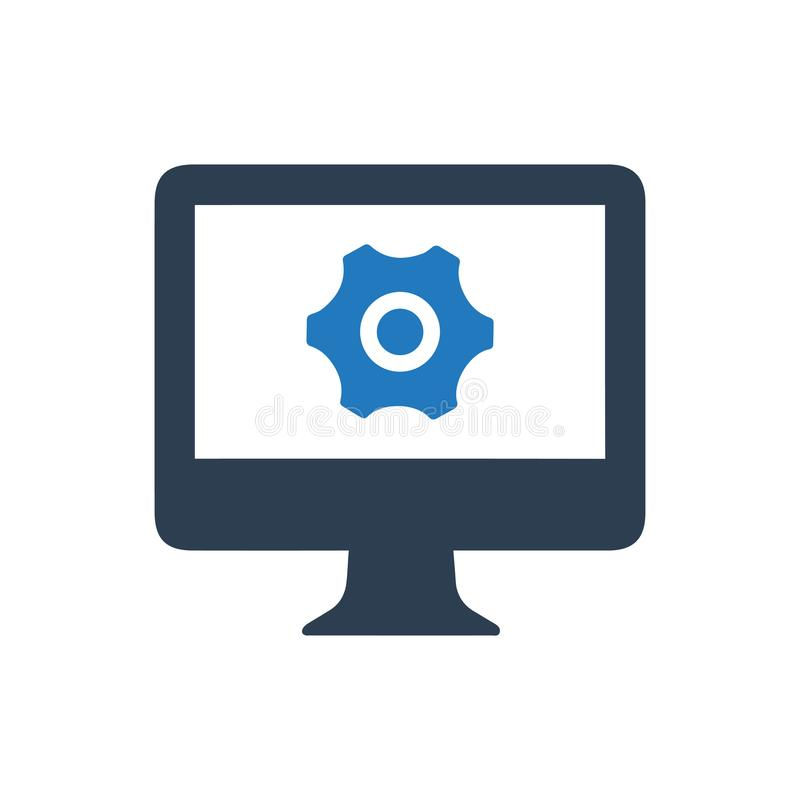 Supervise el icono de la configuración ilustración del vector