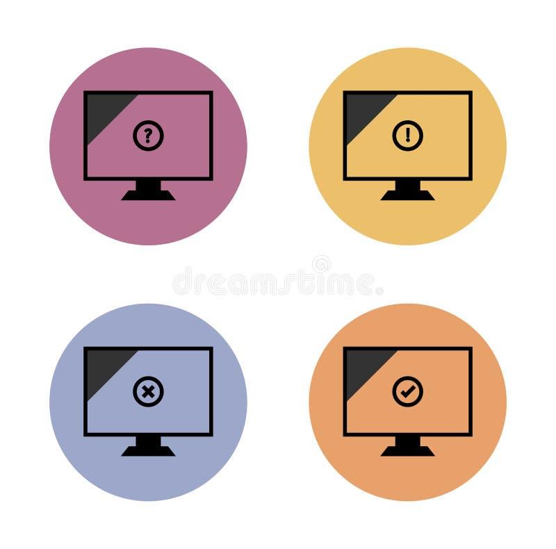 Supervise el icono plano simple en círculo de color ilustración del vector
