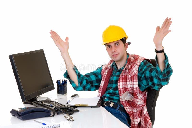 Superviseur de construction fâché photos libres de droits