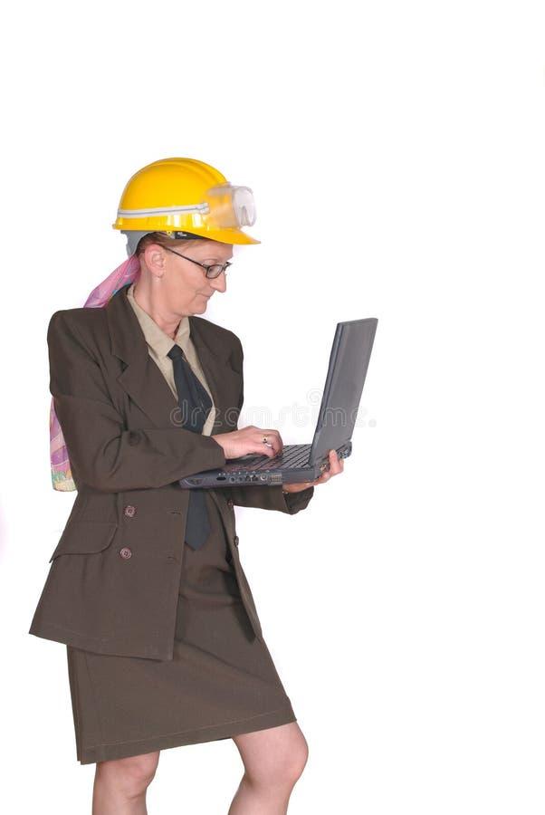 Superviseur féminin de construction image libre de droits