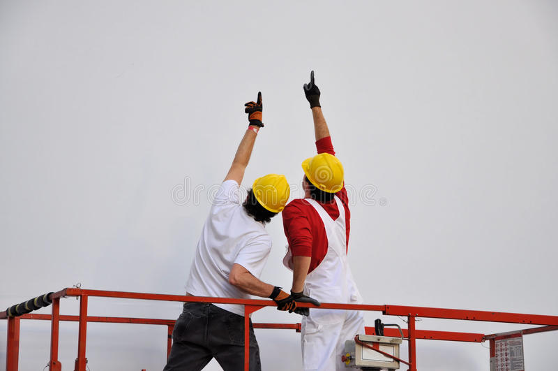 Superviseurs de construction images libres de droits