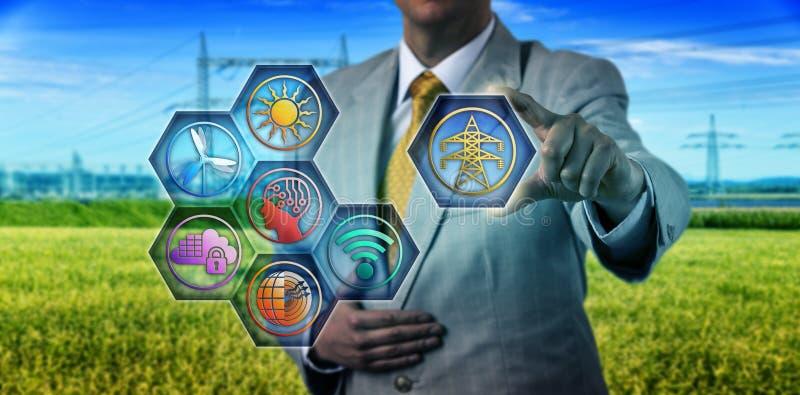 Supervisión de la energía de Adding Transmission To del encargado fotos de archivo libres de regalías
