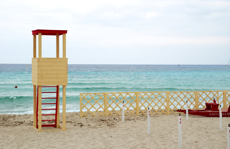 Download Supervision tower stock image. Image of blue, vacation - 5346687