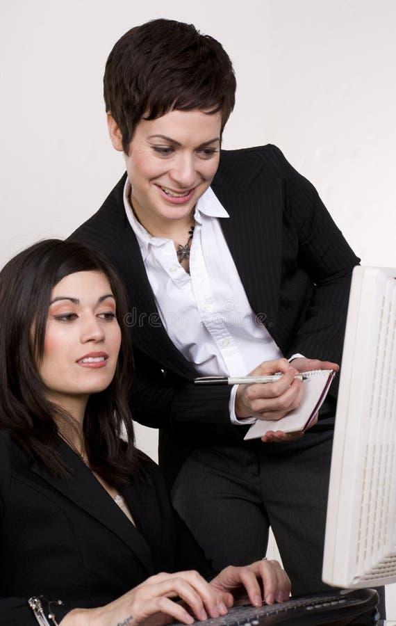 Download Supervisor Checks Computer Work Female Subordinate Royalty Free Stock Photography - Image: 24598077
