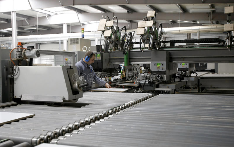 Supervisor in automatic factory stock photos