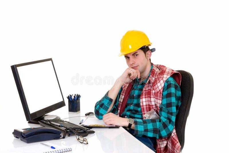 Supervisor da construção irritado foto de stock