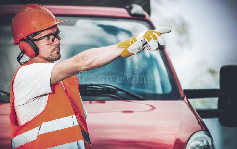 Supervisor de trabalho da estrada foto de stock